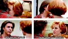 One of my favorite scenes from The Breakfast Club!