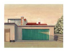 """Saatchi Art Artist: Adalberto Ortiz; Acrylic 2011 Painting """"Green Garage Door"""""""