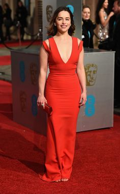Emilie Clarke from 2016 BAFTA Film Awards: Celebrity Arrivals  Game of Thrones' Mother of Dragons is red hot!