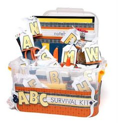 "#DIY ""ABC Survival Kit"" from #CTMH with full list of supplies!"
