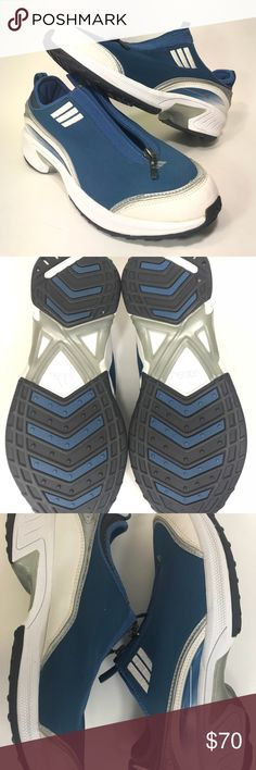 Adidas Zip Slip On Gloves Running Tennis Shoes Preowned nice comfy fit wearable clean condition normal wear and use. Storage scuffing overall no major damages. Bottom of shoes shows that it was barely worn outside. For better judgment please review pics for details thanks! adidas Shoes Sneakers