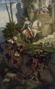 Moritz von Schwind, The Falkenstein Ride 1843