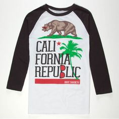 For Will RIOT SOCIETY Tropical Cali Flag Boys T-Shirt 222638100   Graphic Tees   Tillys.com