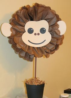Monkey pom pom kit king of the jungle safari noahs ark carnival circus baby shower first birthday party decoration Kit macaco pom pom rei do safari na selva por TheShowerPlanner Monkey Birthday Parties, First Birthday Party Decorations, Safari Birthday Party, Monkey First Birthday, Circus Birthday, Baby Birthday, Monkey Centerpiece, Decoration Cirque, Diy Safari Decorations