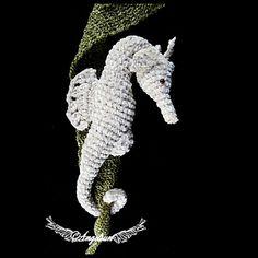 Shy the Seahorse Crochet PDF Pattern Amigurumi, via Etsy shop angelsunawares. Cute Crochet, Beautiful Crochet, Crochet Crafts, Crochet Toys, Crochet Projects, Crochet Fish Patterns, Macrame Patterns, Applique Patterns, Crochet Sea Creatures