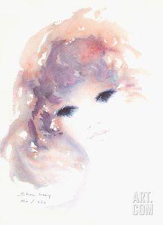 Portrait de jeune fille VII Limited Edition by Shan-Merry at Art.com