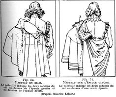 """Miscellaneous Patterns and Diagrams from the Centuries - men's capes and pattern Pattern for man's early Century coat """"Justaucorps"""" Pattern for a Mid Century Robe de Francaise 17th Century Clothing, 17th Century Fashion, Historical Costume, Historical Clothing, Conquest Of Mythodea, Costume Renaissance, Medieval Clothing, Steampunk Clothing, Steampunk Fashion"""