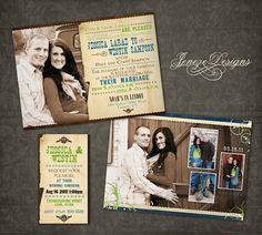 Custom Photo Wedding Invitation Set