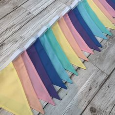 Pretty multicoloured pastel rainbow bunting - can be used inside or outside - ideal for a nursery, playroom, party or wedding : 2 metres 10 flags Lego Bedroom Decor, Nursery Room Decor, Wall Decor, Rainbow Bunting, Gazebo Tent, Nursery Bunting, Fabric Bunting, Sewing Class, Playroom