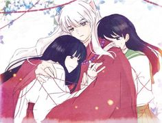 Wow. Perfect portrait of them three. Kagome and Inuyasha were meant to be together and Kikyo and Inuyasha were meant to fall in love even though they were not meant to be together. Breaks my heart every time.