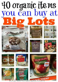 40 organic items you can buy at Big Lots