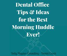 Dental Office Morning Huddle Agenda Tips and Ideas Dental Health Month, Oral Health, Dental Practice Management, Free Dental, Dental Care, Children's Dental, Dental Offices, Dental Bridge, Dental Crowns