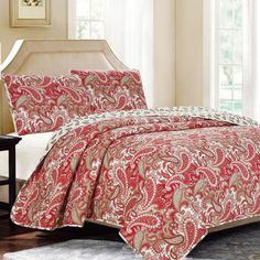 Found it at Wayfair - Nelly Paisley 3 Piece Quilt Set
