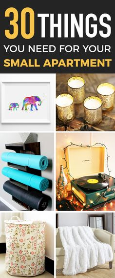 Love this list of things for small apartments or dorm rooms <3
