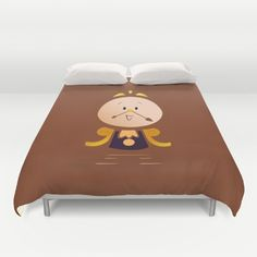 Buy ultra soft microfiber Duvet Covers featuring Baby Cogsworth by happy patterns. Hand sewn and meticulously crafted, these lightweight Duvet Cover vividly feature your favorite designs with a soft white reverse side.