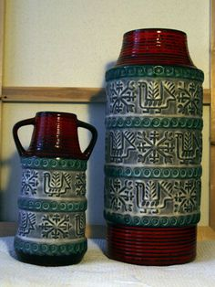 Set of BAY Nordic vases Christmas decor by VintageDesignCandy, $249.00