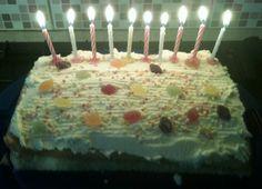 A basic Birthday cake.