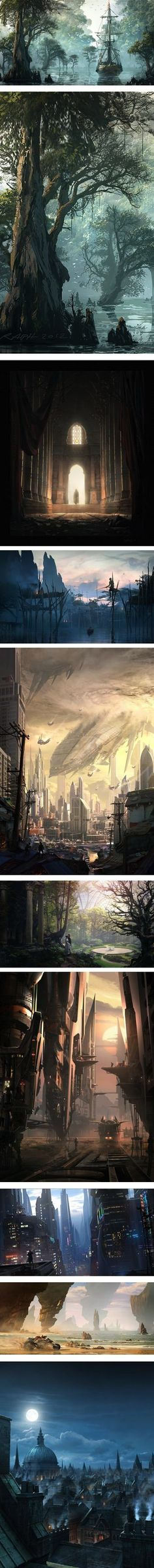 Lines and Colors: a blog about drawing, painting, illustration, comics, concept art and other visual arts » Raphael Lacoste