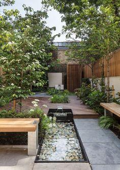 30 Wonderful Backyard Landscaping Ideas Molitsy B Small Garden Landscape Design, Landscape Design Plans, Garden Modern, House Landscape, Landscape Edging, House Garden Design, Modern Backyard, Contemporary Garden, Urban Landscape