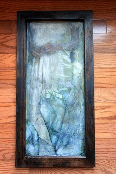 """Hawk and Dove by Linda Plaisted- http://lindaplaisted.com Encaustic Mixed Media- 12 x 24"""" My original photography, oil pigment, ink and beeswax on birch shadowbox panel."""