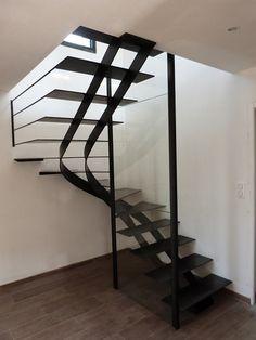 escalier métallique 2/4 tournant | L\'Art de Fer artisan métallier d\'art - conception sur ...