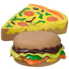 Fast-Food Vinyl Dog Toys (Set of 4)