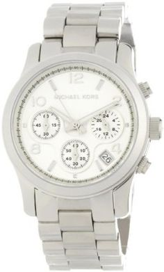 Michael Kors Watches Silver Chronograph Runway (Silver) $139.74