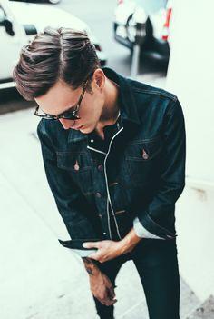 denim x coffee — Brook selvedge denim jacket by P&Co. Made of 13oz...