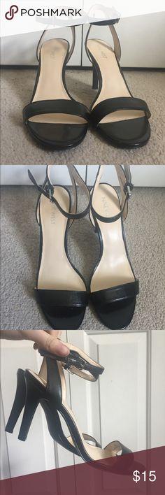 Nine West black strappy heeled sandals Nine West Aniston Ankle Strap Sandals. Size 8 super comfortable Nine West Shoes Heels