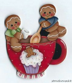 Imagen Gingerbread Ornaments, Gingerbread Decorations, Christmas Gingerbread, Christmas Decorations, Christmas Makes, Christmas Art, Christmas Projects, Holiday Crafts, Christmas Ornaments