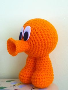 Crochet QBert by MissJennysCrochet on Etsy, $8.50