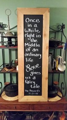 Blackboard, wedding signs, Fairy tale