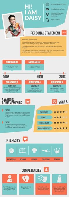 Infographic Ideas easy infographic template : Revamped notebook-style infographic template, PRO 'The Note ...