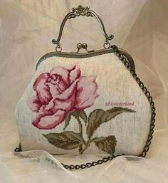 """New Cheap Bags. The location where building and construction meets style, beaded crochet is the act of using beads to decorate crocheted products. """"Crochet"""" is derived fro Beaded Purses, Beaded Bags, Crochet Purses, Vintage Purses, Vintage Bags, Vintage Handbags, Embroidery Bags, Floral Embroidery, Mochila Crochet"""