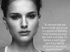 A beautiful quote from Natalie Portman about what being Israeli means to her... #Israel