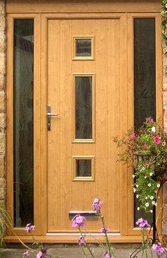Not sure what composite door you want? Take a look at some of the beautiful composite door installations that Solidor has done and get inspired online here. House Front Door, House Doors, House With Porch, House Entrance, Entrance Doors, Porch Doors, Windows And Doors, Upvc Windows, Composite Front Doors Uk