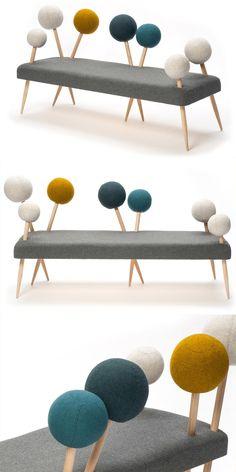 Pinsofa, un sofá original y divertido. Diseño por Demeter Fogarasi.