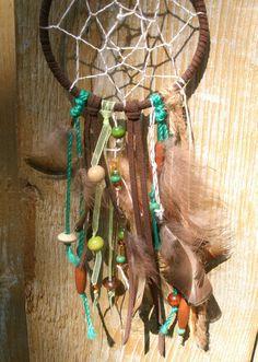 Bohemian Dream Catcher Necklace hand by YoursOnlyByWeronika, $40.00
