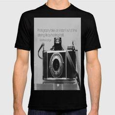 (Unisex Dorothea Lange Quote Vintage Camera T-Shirt) #AlteringLifeByHoldingItStillDorotheaLangePhotographyQuoteOnVintageBlackAndWhiteKodakCameraPhotography #BlackWhite #Photography #PhotographyTakesAnInstantOutOfTime #Typography #Vintage is available on Funny T-shirts Clothing Store   http://ift.tt/2eASc8G