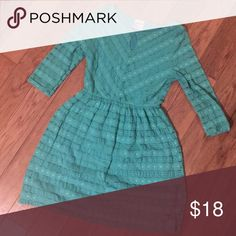 Mint 3/4 sleeve Lace Dress Excellent condition - no flaws.  There is a backing on the dress under the lace everywhere but the sleeves so it can be wore with nothing underneath. Kiki La Rue Dresses Mini