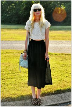 Image of Cropped Eyelet Blouse