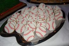Baseball cookies from Frosted Art