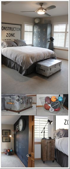 Teen boy room Industrial design