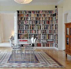modern ideas for interior decorating with book shelves