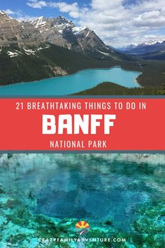 Banff National Park in Canada is an adventure of a lifetime! There is so much to do in the summer, though many people enjoy the unique winter views and activities as well.  Here are our recommendations for things to do with kids, hot springs to check out, visiting Lake Louise, where to stay in Canada, hiking trails to explore as a family, and more! #BanffNationalPark #Canada #familytravel #adventuretravel