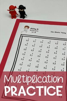 Make multiplication practice fun with this Karate themed Math Fact Fluency program!