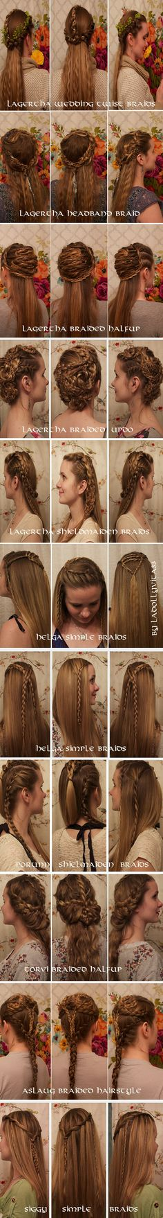 The Definitive Guide to Viking Braids. Get ready for your next raids with these amazing braided hairstyles!