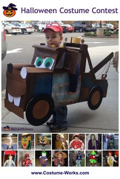 Tow Mater - some great DIY Halloween costume ideas for boys!