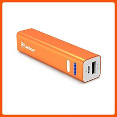 Jackery Mini Premium 3350mAh Portable Charger - External Battery Pack, Power Bank, & Portable iPhone Charger for Apple iPhone SE, 6s, 6s Plus, 6, 5, iPad Pro, iPad Mini, Samsung Galaxy S7, S6, and S5 (Orange) - Best gadgets (*Amazon Partner-Link)