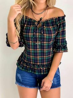 Blouse Styles, Blouse Designs, Stylish Dresses, Casual Dresses, Diy Fashion, Fashion Dresses, Pretty Outfits, Cute Outfits, Diy Clothes